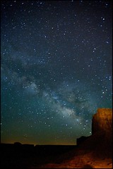 Milky Way from Monument Valley ~ Navajo Nation Utah/Arizona border (Bettina Woolbright) Tags: arizona sky night stars star utah indian sigma 20mm navajo monumentvalley milkyway navajonation sigma20mm 5d2 bettinawoolbright