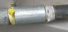 coupling (plumberi) Tags: water coupling galvanized gaspipe plumbingphotos