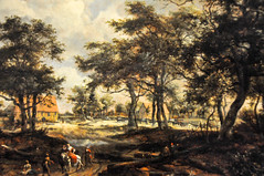 Meyndert Hobbema - Wooded Landscape with Travellers and Beggars on a Road, 1668 at The Queen's Gallery Buckingham Palace London England (mbell1975) Tags: road uk england london art dutch museum painting landscape golden gallery museu with travellers royal grand palace muse musee m queen queens master age gb goldenage museo masters residence buckingham muzeum beggars residenz wooded the mze hobbema 1668 museumuseum meyndert