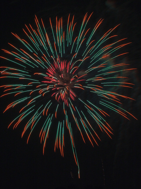 Fireworks, near Jefferson Barracks Park, in Lemay, Missouri, USA - 2