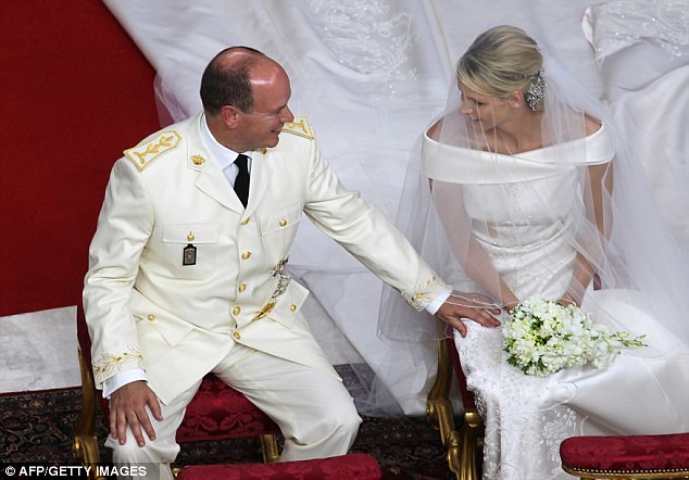 The Princess bride  Monaco  Charlene and Prince Albert ceremony The Princess bride  Monaco  Charlene and Prince Albert ceremony  5