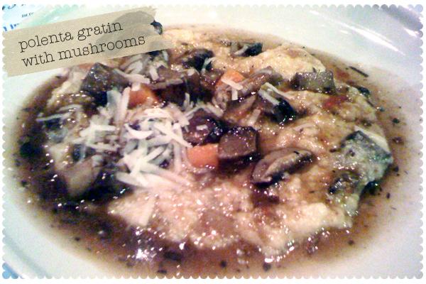 Polenta Gratin with Mushroom Bolognese