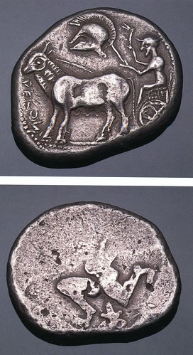 An Exceptional Greek Silver Dodecadrachm of the Derrones (Thraco-Macedonian Tribes), Unusually Complete