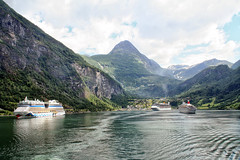 My grand day out #1 (larigan.) Tags: summer vacation holiday mountains tourism spectacular scenic unescoworldheritagesite hazy touristattraction geiranger cruiseships geirangerfjord larigan phamilton ginordic1