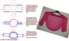 Crochet Shrug or Bolero Instructions (LauraLRF) Tags: art pattern arte handmade crochet howto instructions easy scheme saco shrug patron esquema bolero instrucciones facil tejido ganchillo