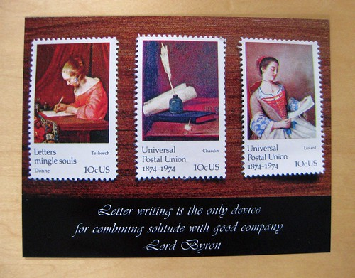 Byron quote letter-writing postcard 2
