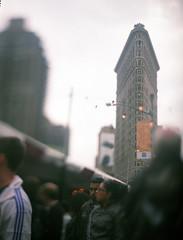 NY Flat Iron Building and Coney Island Series (Raf Ferreira) Tags: street new york city nyc usa ny building film speed square photography iron fuji flat graphic kodak large shift iso f eua 25 4x5 format 100 rafael tilt fujichrome flatiron aero astia ektar tiltshift pacemaker ferreira peixoto 178mm