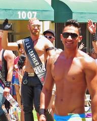 LBPride14 091 (danimaniacs) Tags: shirtless man hot sexy guy smile leather beard hunk parade longbeach gaypride lbpride14