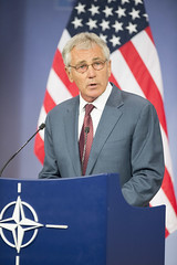 Press conference by the US Secretary of Defense (NATO) Tags: brussels us belgium secretary defense nato chuckhagel defmin
