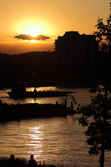 Canada Day Sunset (Alcona1) Tags: sunset lake silhouette barge barrie simcoe