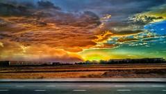 Dust storm racing toward the cory of the sun. (Jason E. Lee) Tags: haboob duststorm phoenix