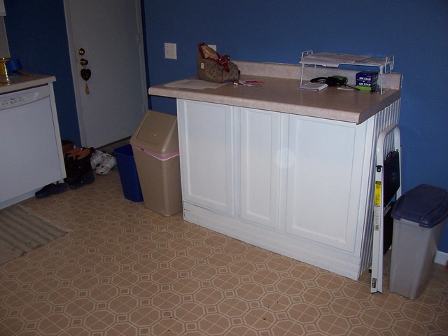 kitchen cabinet thing painted