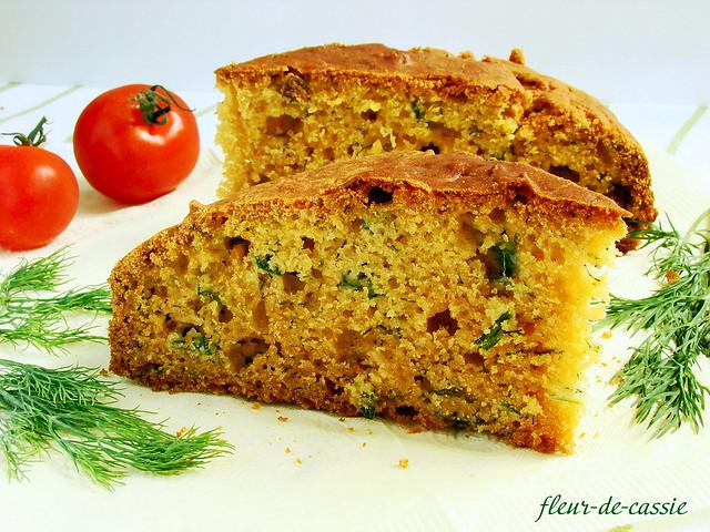 хлеб кукурузный с зеленью