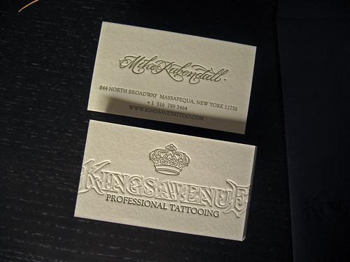 Kings Avenue Tatto Letterpress