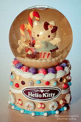 Hello Kitty Snow Globe (pameladeutchman) Tags: hello bear snow water glass cake glitter angel cat canon ball 50mm wings globe candy hellokitty kitty sugar sanrio collection sphere teddybear 365 candycane frosting snowglobe snowdom