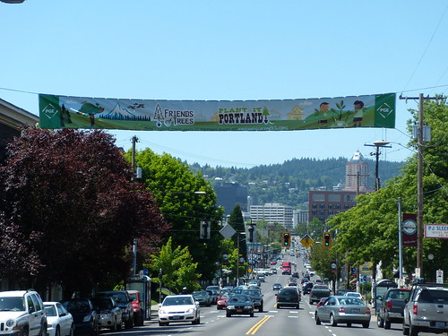Plant It Portland! Banner on SE Hawthorne