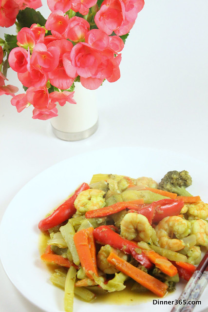 Day 179 - Green Chilly Shrimp and Veggies