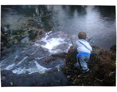 Liam at the Creek