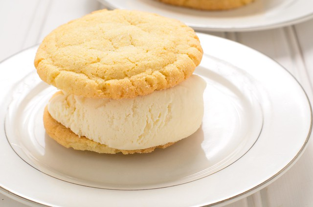 Triple Scoop Desserts: Zesty Lemon Sugar Cookie Ice Cream Sandwich