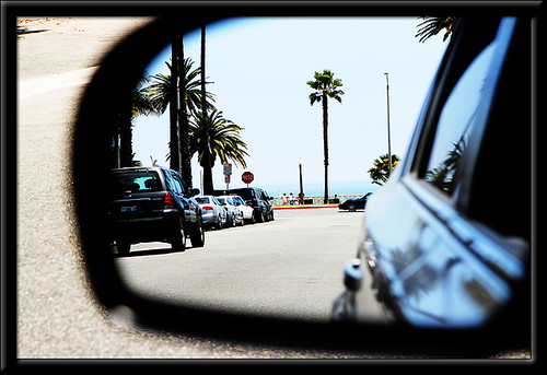 santa monica in the rearview