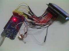 display lcd 128x64 Arduino Mega e Potenciômetro