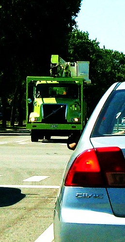 Niles Public Services Volvo snorkle bucket utility truck.  Niles Illinois USA. July 2011. by Eddie from Chicago