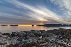 Yttersia (frabraha) Tags: ocean summer sky nikon midnight midnightsun troms 2014 14mm sommary samyang d700 yttersia