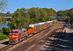 """Westbound Local in Kansas City, KS (""""Righteous"""" Grant G.) Tags: atsf bnsf railway railroad locomotive train trains west westbound local transfer ns norfolk southern kansas city"""