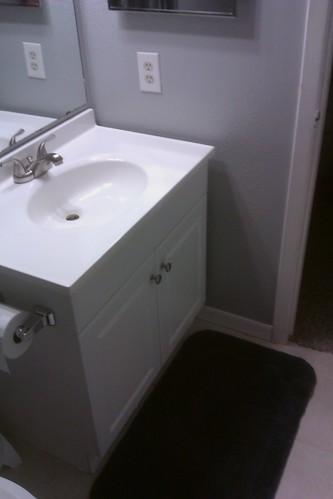 67 Vanity Installed