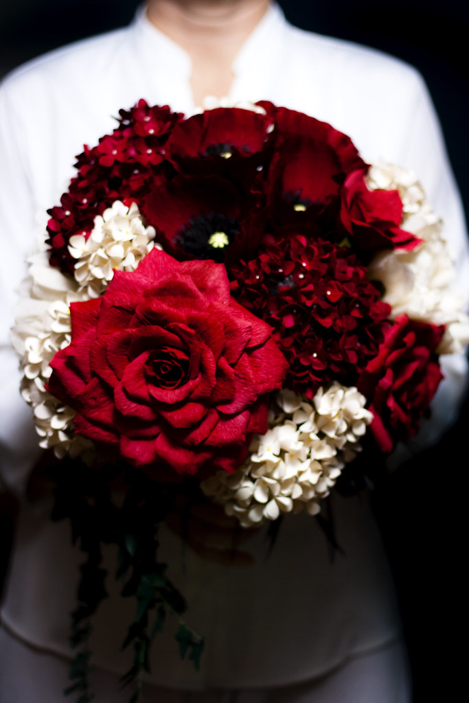 luxe paper flower wedding bouquet