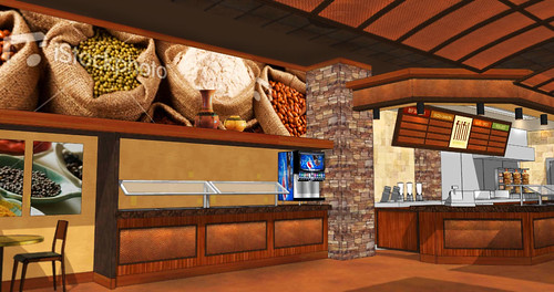 Interior Restaurant Rendering | Restaurant Decor Design