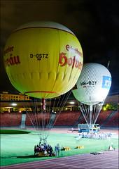 Night shift (victor*f) Tags: night start dark balloons stadium ballon zurich gas hydrogen letzigrund zfd zueriflickrdrinks wasserstoff ballongruppe