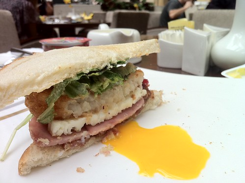 Bacon, Grilled Ham, Hash Browns, Egg, Salad Sandwich-2