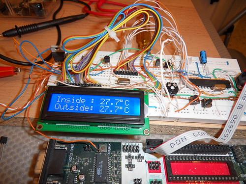 Digital Thermometer BreadBoard testing