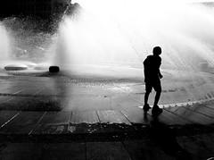 Water war (Buldrock) Tags: street silhouette munchen fontana controluce karlsplatz iphone
