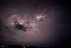 Upward (Strangely Different) Tags: storm nature rain weather hail clouds texas different ominous tx josh thunderstorm lightning denton meteorology strangely sanger