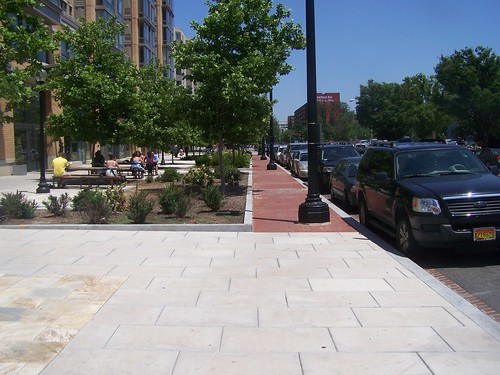 Sidewalk at CityVista, 400 block of K Street NE, east side