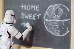 Homesickness (Kalexanderson) Tags: life stilllife trooper art toys chalk starwars paint alone child lego drawing son troopers plastic nostalgia stormtrooper fatherandson chalkboard distress blackboard homesick homesweethome deathstar separationanxiety familylife ordinarylife helplessness homesickness missinghome darthwader drawingchalk stormtroopersstar lifeonthedeathstar warstoysfamily 365daysofstormtroopers stormtrooperandson