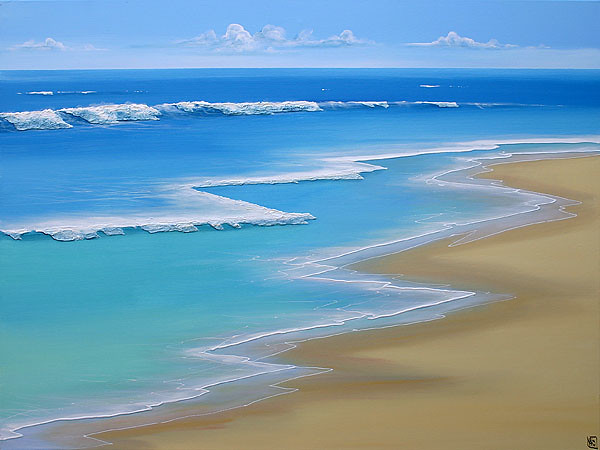 Simple Wonders Colin Perini Tags Ocean Original Sea Seascape Beach Water Painting