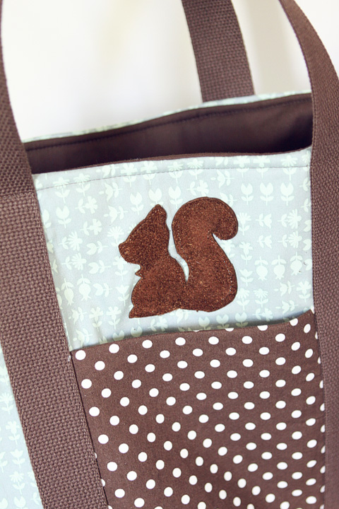 squirrel leather applique