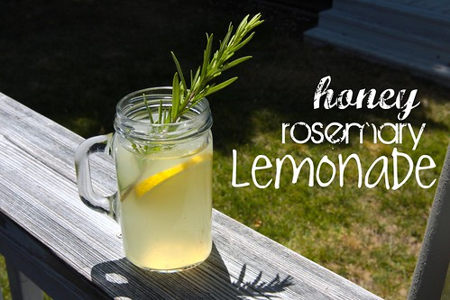 honey rosemary lemonade