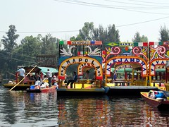 Colourful Gondolas and Canals, Xochimilco, Mexico City, Mexico (Bencito the Traveller) Tags: mexico canal mexicocity gondola colourful xochimilco