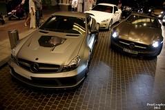Brabus Vanish & SLS AMG (DenGraphy) Tags: black dubai parking exotic series amg brabus vanish topspot carspot