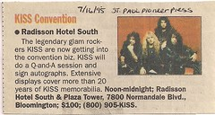 07/16/95 St. Paul Pioneer Press (Kiss Convention)