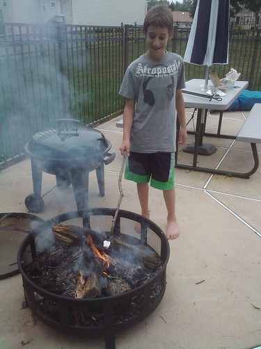 Jarett toasting marshmellow