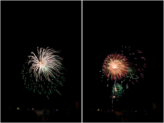 July 4th fireworks diptych 3