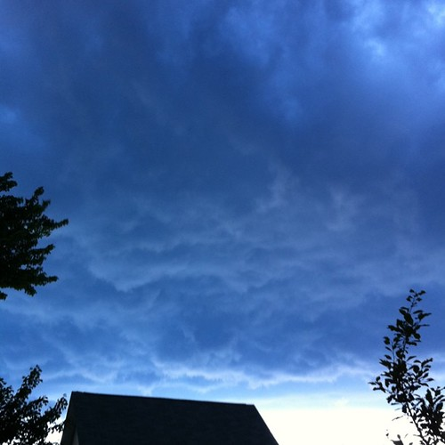 storm clouds over Old Orchard Besch