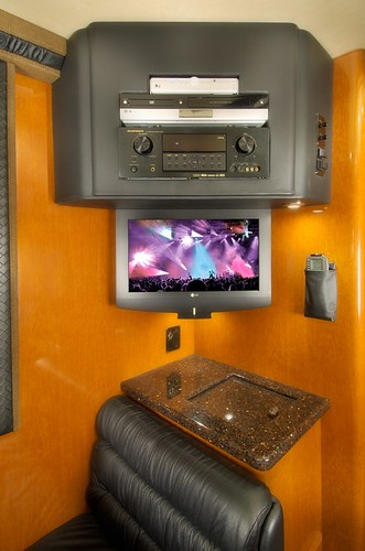 Rebel - Rear Lounge - TV, Entertainment Center & Ice Chest