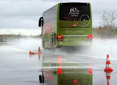 Sicherheitstraining Bus Lausitzring - Bremsen auf nasser Fahrbahn I