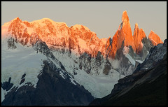Cerro Torre at Sunrise (Waldemar Halka) Tags: patagonia santacruz mountain nature argentina sunrise landscape nationalpark nikon peak andes range cordillera alpenglow massif parquenacional losglaciares elchalten cerrotorre singhray d7000 afs24120mmf4gvr